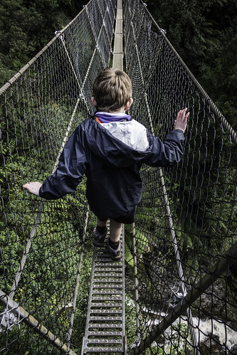 The swing bridge #25, Montezuma Falls, Tasmania's West Coast