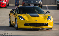 Corvette C7 (scott597) Tags: ohio cars coffee yellow stingray august corvette greene dayton 29th 2015 c7