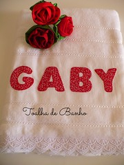 Toalha de banho da minha filhota... (romelia.artesanatos) Tags: toalha patchwork banho aplique aplicao