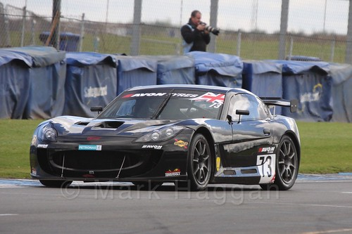 The Century Motorsport Ginetta GT55 GT4 of Nathan Freke and Ian Stinton in British GT Racing at Donington, September 2015