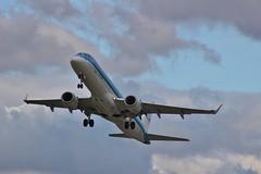 KLM Cityhopper PH-EZR (SlightlyReliable70 2010-2015) Tags: airport bradford leeds x international 200 monarch airbus klm airlines cessna a320 citation embraer erj190 cityhopper lba phezr gozbx n950m
