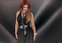 316 - Chanice (Sannita_Cortes) Tags: fashion female glow tie it jewellery sl secondlife virtual styles ikon dela jumpsuit virtualworld slink pinkcherry virtualfashion glamaffair designercircle
