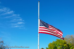 October 16, 2015 - Flags at half mast for Firefighter Craig Moilanen. RIP. (ThorntonWeather.com)