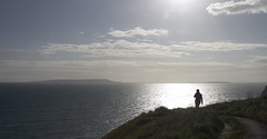 An evening clifftop stroll (Craig 2112) Tags: sea cloud person view dorset clifftop wak