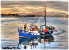 004 Bringing in the Catch (williamwalton001) Tags: boat harbour hdr water scotland sun|sky|cloud trolled dockbay