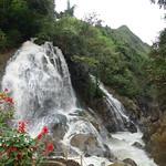 Wasserfall im Dorf Cat Cat/Sapa