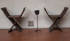Chairs at San Marco, Florence (UrbanphotoZ) Tags: italy tile vent florence chairs firenze ashtray minimalism sanmarco tilefloor ilmuseodisanmarco