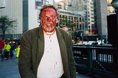 blood man 2 (JulianFMaster) Tags: nyc julian 28mm contax master 400 28 t3 portra f135 pakon