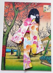 ATC1303 - Sakura garden (tengds) Tags: pink flowers blue trees red brown green yellow atc artisttradingcard garden asian japanese card sakura cherryblossoms kimono obi paperdoll origamipaper papercraft japanesepaper ningyo hiroshige artistcard handmadecard woodblockprint chiyogami asiandoll japanesepaperdoll nailsticker origamidoll kimonodoll nailartsticker tengds