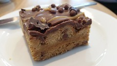 Caramel Cookie Stack (ManOfYorkshire) Tags: food costa coffee cake cookie chocolate delicious biscuit caramel snack layers toffee item traybake