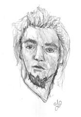 Self-portrait Sketch (Alejandro Lpez Gonzlez) Tags: blancoynegro me self sketch portait yo