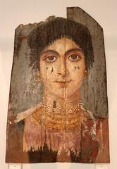 Mummy Portrait of a Woman with rich Jewellery (f_snarfel) Tags: museumsinsel fayum mummyportrait alfayoum altesmuseumberlin rubayat copticperiod antikensammlungberlin staatlichemuseenberlin mumienbildnis womanwithrichjewellery fraumitreichemschmuck errubayat alfayoumoasis
