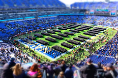 Midshipmen in Formation (Rob Shenk) Tags: armynavy football navy tiltshift usna field baltimore midshipmen