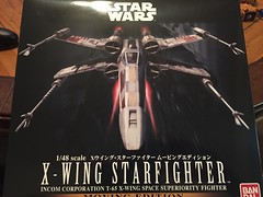 Bandai's 1/48th X-Wing Starfighter - Moving Edition (njgiants73) Tags: t65 148 kit model corporation incom fighter starfighter wars star wing x xwing 2015 bandai
