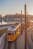 The Day has begun (gabi_halla) Tags: outdoor road waterfront water river architecture infrastructure winter morning structure driver tram yellow budapest hungary sunshine sunny bagan begin moving cross turn curve loop bend rails city building sunlight