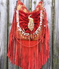 (bejoy8) Tags: sexy love red bag fringe fringes handmade people leather blue jewelry fashion boho hobo fabric recycle recycling sew purse bags ibiza festival hippie gypsy native american serape lace suede suéde