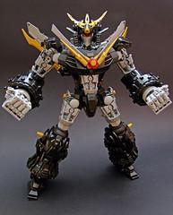 Dekaimano Buster V (Djokson) Tags: super robot mecha anime black silver gold red djokson lego moc toy model