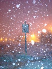"Pancarte ""PN 58"", n°2 (Loic Frere) Tags: sonya6300 sonyalpha6300 sigma19mm extérieur nuit hiver loiret courtenay signalisation pancarte"