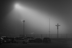 plausible argument ?, 2017 (Clay Percy) Tags: blackwhite bw urban urbanlandscape night crucifix