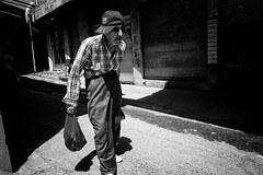 Old man (Saman A. Ali) Tags: street streetphotography streetlife blackwhite people portrait old man light dark dailylife documentary monochrome blackandwhite outdoor fujifilm fujinon16mmf14 fujifilmxt1