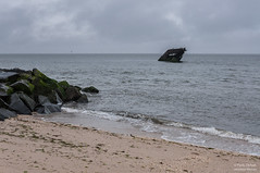 Ship wreck off the cost near Cape May (kucheryavchik) Tags: america atlantic capemay east eastcoast nj newjersey usa coast ocean roadtrip roadtrip2016 unitedstates us