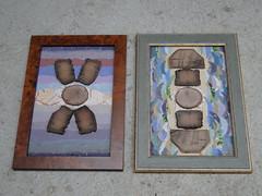 cross sections (nightcloud1) Tags: collages wood handmadepaper nightcloud crosssection brokenhome recycling naturalmaterials 3d haptic