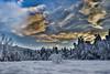 Norwegian winter 2014 (MaikeJanina) Tags: norwegen hdr winter landscape clouds schnee snow trees norge wolken sunset sonnenuntergang solnedgang