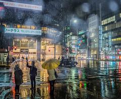Snow in Kyoto (Dmitry_Pimenov) Tags: snow winter street streetphotography streets urban city cityscape citta night japan weather wet travel awesome umbrella unreal япония киото город дмитрийпименов олимпус olympus dipimenov dmitrypimenov trip asia architecture road crossroads