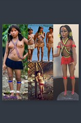 #Paulovadoll #clonedoll #Yanomami vintage doll restyling #muńeca #Venezuela (qescobar78) Tags: paulovadoll yanomami clonedoll