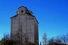 Silo (Miguel Angel Prieto Ciudad) Tags: trees field sky blue architecture spain madrid agriculture rural silo muni municipal navalcarnero
