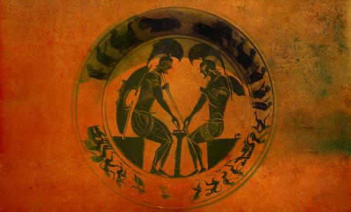 "Petteia - Ludus Latrunculorum  / Iconografía de las civilizaciones helenolatinas • <a style=""font-size:0.8em;"" href=""http://www.flickr.com/photos/30735181@N00/32481383516/"" target=""_blank"">View on Flickr</a>"