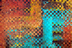 Abstract Modern Art - Pieces 1 - Sharon Cummings (BuyAbstractArtPaintingsSharonCummings) Tags: abstract modern contemporary abstractart squares checkerboard checker board ultramodern brown earthy earthtones yellow burntorange mosaictiles mustard aqua teal darkbrown loftart sharoncummings sienna copper orange red shapes geometrical geometric cool collage patchwork patch work unique moderndecor contemporaryhomefurnishings large big huge canvas highcontrast bold statementpiece brightcolors highimpact