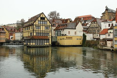 IMG_8110 (maro310) Tags: 70d architecture bamberg bavaria bayern canon city deutschland germany outdoor sightseeing urban winter water river reflection building waterfront kleinvenedig regnitz