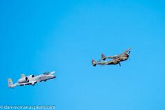 Heritage Flight Practice A-10 and P-38 (Kukui Photography) Tags: davis monthan afb heritage flight practice airplane arizona tucson aircraft davismonthanafb heritageflightpractice