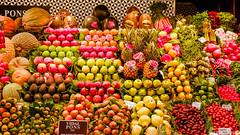 Barcelona (Alessio Catelli) Tags: barcelona barcellona europe europa travel viaggio spain spagna catalonia palms sky colors boqueria colourful fruits food fuji xe1 xf1855