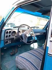 1979 Silverado C10 454 Big Block V8 - 07 (Alan Taylor - ERN) Tags: alantaylor ern 2017 1979 silveradoc10 bluepickup forsale pickup 454bigblockv8 shortbed chevy interior steeringwheel chevrolet
