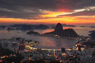 Sunrise @Mirante Dona Marta, Rio de Janeiro, Brazil