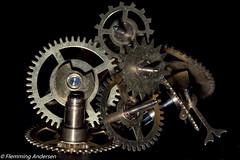 Made of metal  (HMM) (The Papa'razzi of dogs) Tags: golden black gears macro monday made metal wheel macromonday madeofmetal hurupthy northdenmarkregion denmark dk