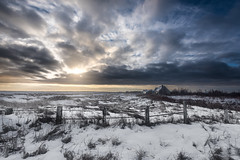 After the snow (Alec_Hickman) Tags: outdoor landscape beach house snow winter frozen storm clouds freeze ice fence sun morning dawn light canada
