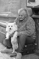 Margherita (carlogalletti) Tags: firenze italy italia gente persone cane monocromo