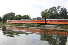 Afternoon delight (MILW157) Tags: friends lake cars train track pacific rail canadian amtrak passenger cp 261 superdome hiawatha skytop pewaukee railroa