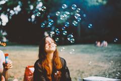 Childhood Memories (Louis Dazy) Tags: park blur film nature girl smile youth analog 35mm happy photography bubbles hippie 100 ektar