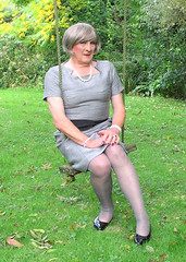 Greyboyswing (fionaxxcd) Tags: nipples bob crossdressing bust tranny crossdresser stilettoes pearlnecklace trannie mtf m2f tansvestite greytights
