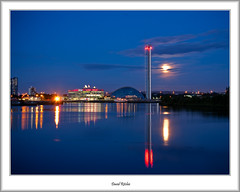 Science Centre Twilight (flatfoot471) Tags: summer moon museum scotland riverclyde twilight riverside unitedkingdom dusk glasgow ships normal merchant balmoral yorkhill govan 2012 sciencecentre scoland