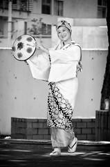 Nisei Week 2015 - Rokkonsai (rikiomgawa) Tags: blackandwhite bw woman monochrome japanese losangeles nikon dancer performer littletokyo lightroom niseiweek d7000 silverefexpro tohokurokkonsai