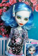 Ghoulia Yelps OOAK (Marina Gridina) Tags: doll ooak disneystore repaint snowspring poppyparker monsterhigh everafterhigh gridina