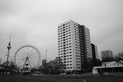 East Side (Josmarette) Tags: blackandwhite berlin blackwhite streetphotography bn eastside berlintvtower canoneos400ddigital