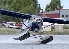 N9877R Takeoff (John W Olafson) Tags: alaska takeoff seaplane floatplane lakehood dehavillanddhc2beaver regalair n9877r