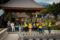 (the.redhead.and.the.wolf) Tags: people bali architecture indonesia temple group buddhism schooluniform ulundanu bratanlake