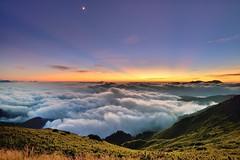 合歡山主峰~翻滾吧...霞光●雲海~  Clouds sea Sunset (Shang-fu Dai) Tags: sunset sea clouds landscape nikon taiwan 南投 夕陽 formosa 台灣 雲 d800 合歡山 雲海 hehuan 雲彩 霞光 主峰 cloudssea 3416m afs1635mmf4